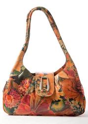Brilliantly Styled Floral Leather Shoulder Handbag For $185
