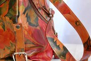 Argentinian Floral Leather Bag - Messenger & Cross-body Style For $195