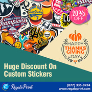 Huge Discount of 20% On Custom Stickers | RegaloPrint