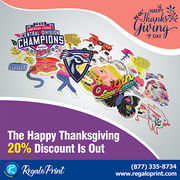 The Happy Thanksgiving Discount Is Out | Custom Decals | RegaloPrint