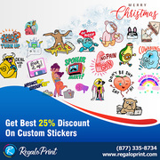 Get Best 25% Discount On Custom Stickers | RegaloPrint