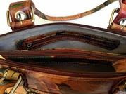 100% Genuine Argentinian Floral Leather Bag For $185