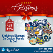 Christmas Discount On Custom Decals Is Out | RegaloPrint