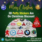 3D Puffy Stickers Are On 25% Christmas Discount - RegaloPrint