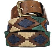 Argentinian Leather Embroidered Polo Player Belt For $75