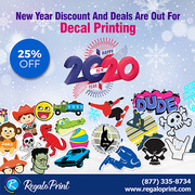 New Year Discount and Deals Are Out For Decals Printing - RegaloPrint
