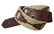 Polo Player Belt / Hand Sown Embroidery For $75