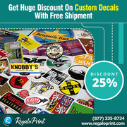 Get 25% Discount On Custom Decals With Free Shipment - RegaloPrint