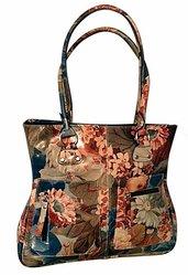 100% Argentinean Floral Leather Bag - Slender Lines & Roomy For $165