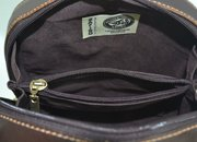 Genuine Argentine Floral Leather Domed Cross Body Messenger For $139