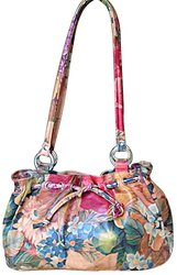 Argentinian Cowhide Floral Leather Shoulder Bag For $85