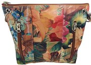 Argentinian Floral Leather Handbag Purse For $129