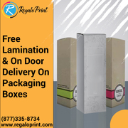 Free Lamination and Doorstep Delivery of Packaging Boxes – RegaloPrint