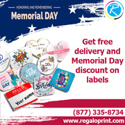 Get Free Delivery And Memorial Day Discount On Custom Labels