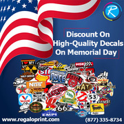 Discount on High-Quality Custom Decals on Memorial Day – RegaloPrint