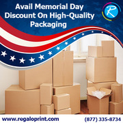 Avail Memorial Day Discount On High-Quality Packaging – RegaloPrint
