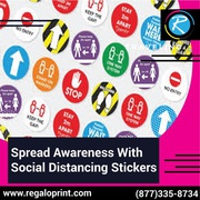 Spread Awareness With Social Distancing Stickers – RegaloPrint