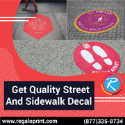 Get Quality Street And Sidewalk Decal – RegaloPrint