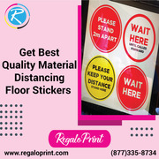 Get Best Quality Material Distancing Floor Stickers – RegaloPrint