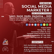 To Become A Social Media Marketer - 3D Educators