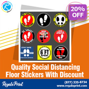 Quality Social Distancing Floor Stickers With 20% Discount