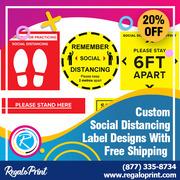 Custom Social Distancing Label Designs - Free Shipping – RegaloPrint