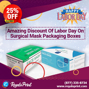 Amazing 25% Discount of Labor Day on Surgical Mask Packaging Boxes