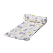 Vintage Bicycle Print 100% Organic Muslin Swaddle for Your New Born