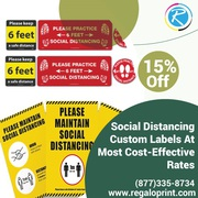 Social Distancing Custom Labels At Most Cost-Effective Rates
