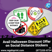 Avail 15% Halloween Discount Offer on Social Distance Stickers