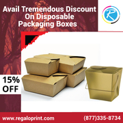 Avail Tremendous Discount on Disposable Packaging Boxes – RegaloPrint