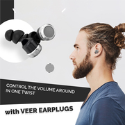 Veer Earplugs reduce the surrounding noise dramatically due to their s